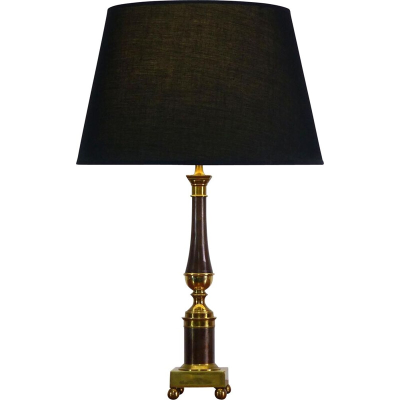 Vintage neoclassical column table lamp