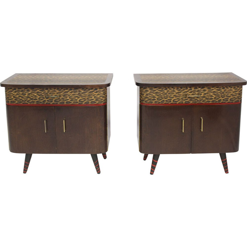 Pair of vintage bedside tables from the 50-60s