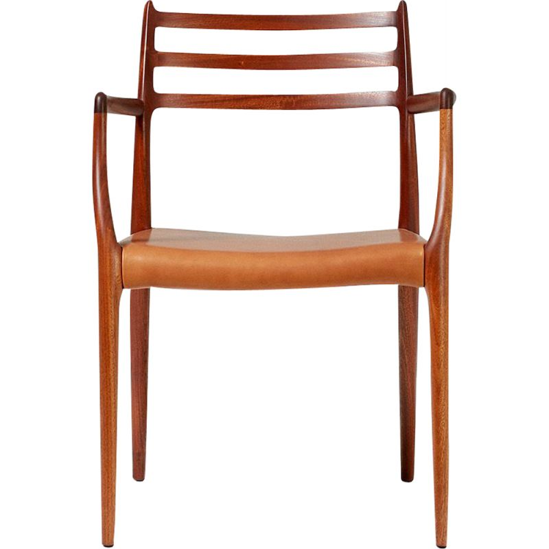Vintage model 62 armchair for J.L. Moller in mahogany 1960s