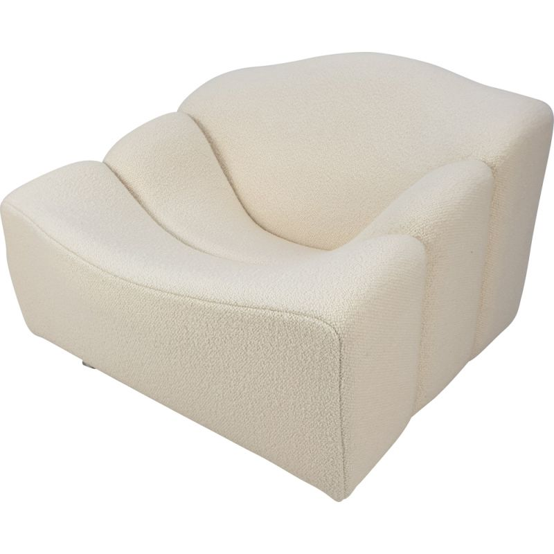 Vintage ABCD armchair by Pierre Paulin for Artifort in white fabric 1960s