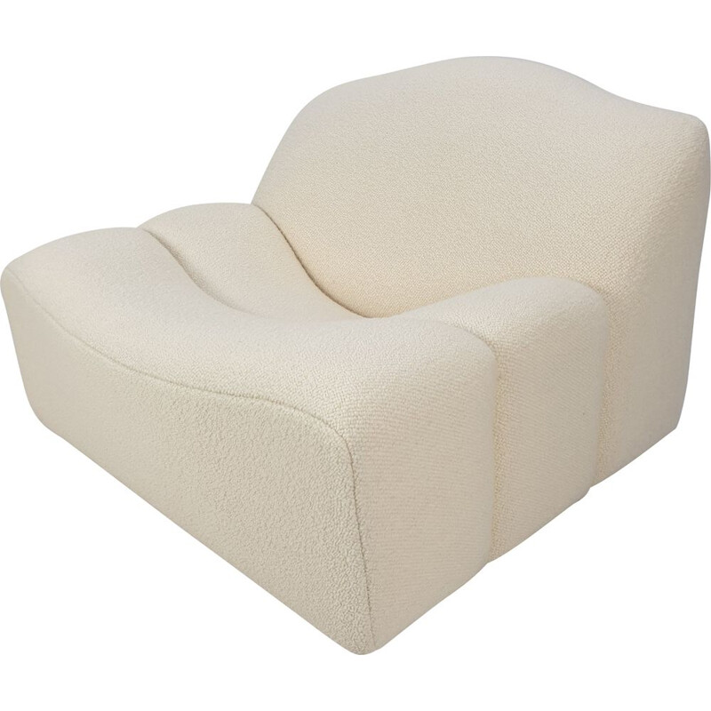 Vintage ABCD armchair by Pierre Paulin for Artifort in white wool 1960s