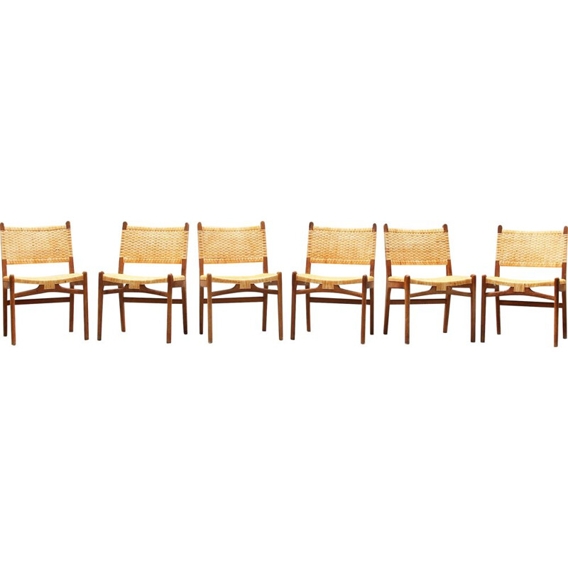 Set of 6 vintage dining chairs by Hans J. Wegner for Carl Hansen
