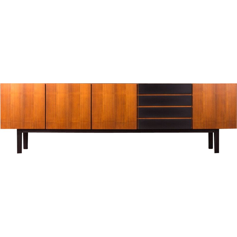 Vintage sideboard in walnut Germany 1960s
