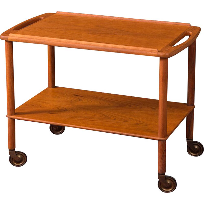 Vintage serving trolley in teak Denmark 1960s