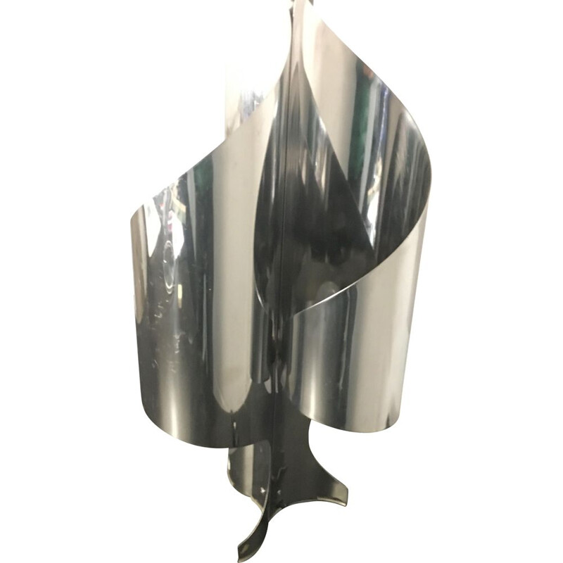 Vintage lamp in stainless steel 1970s