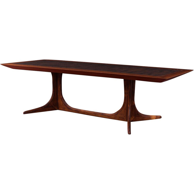 Vintage coffee table in rosewood Germany 1970s