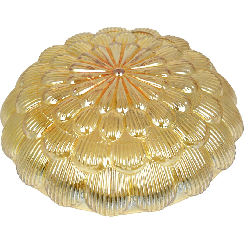 Vintage ceiling lamp honey 70205 by Massive Germany 1970s