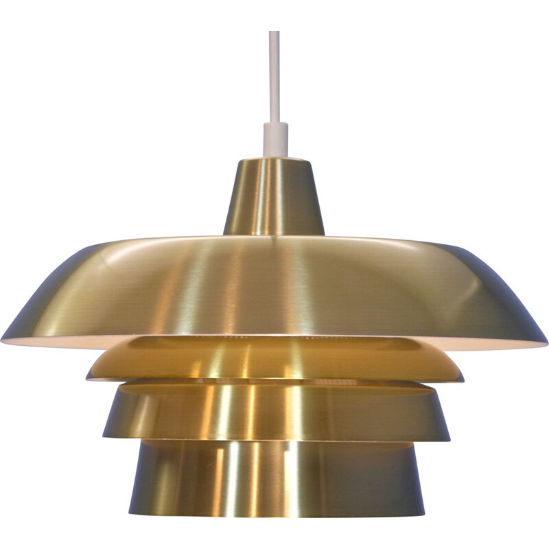 Vintage hanging lamp in brass Denmark 1970s