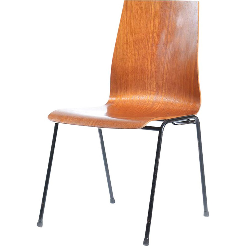 Vintage stacking chair in teak and metal Germany, 1960s