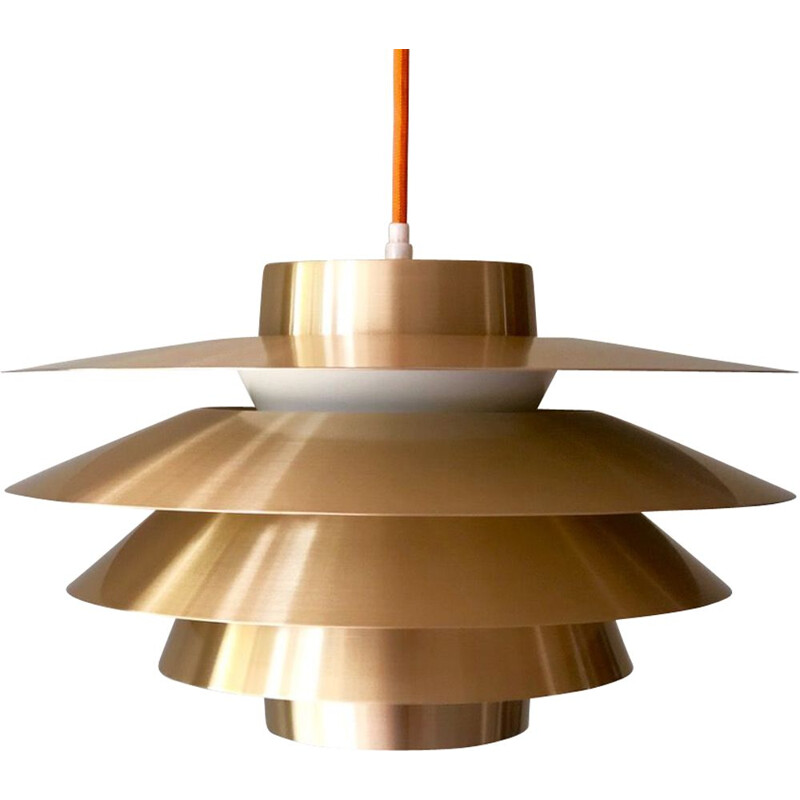 Vintage Verona hanging lamp for Nordisk Solar in brass