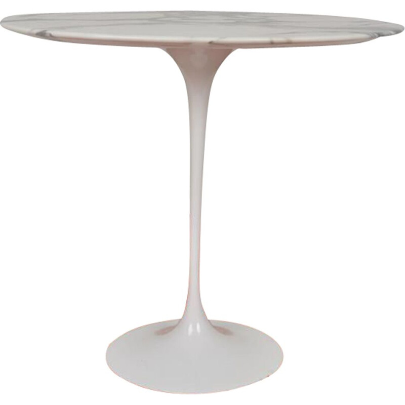 Vintage coffee table for Knoll International in marble and aluminum cast iron