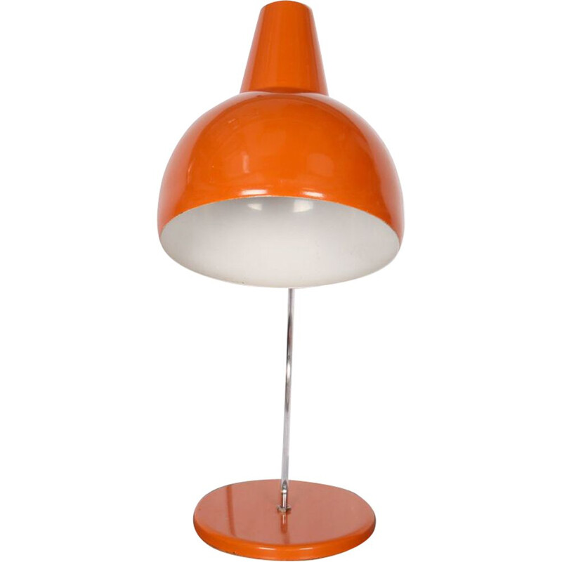 Vintage lamp by Josef Hurka for Lidokov in orange metal 1960