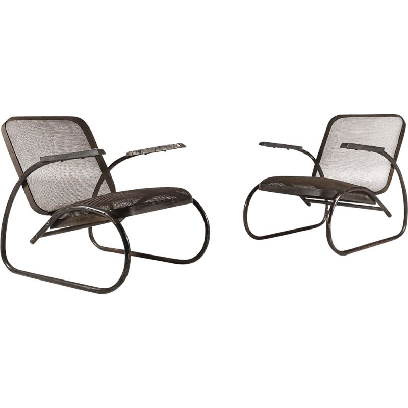 Pair of vintage armchairs Bauhaus,1930