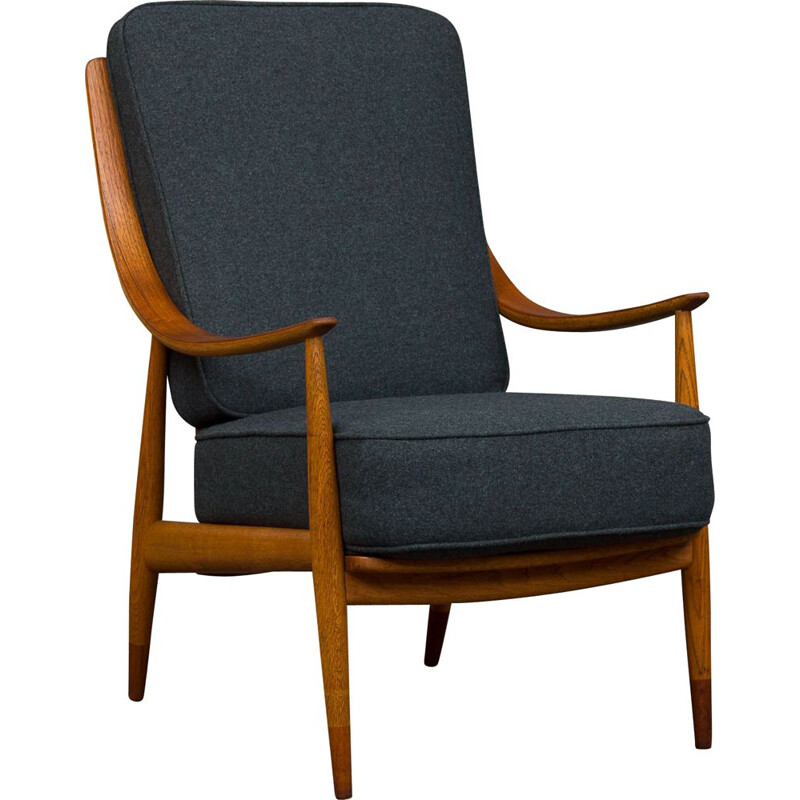 Vintage Peter Hvidt and Orla Mølgaard-Nielsen lounge chair FD-146
