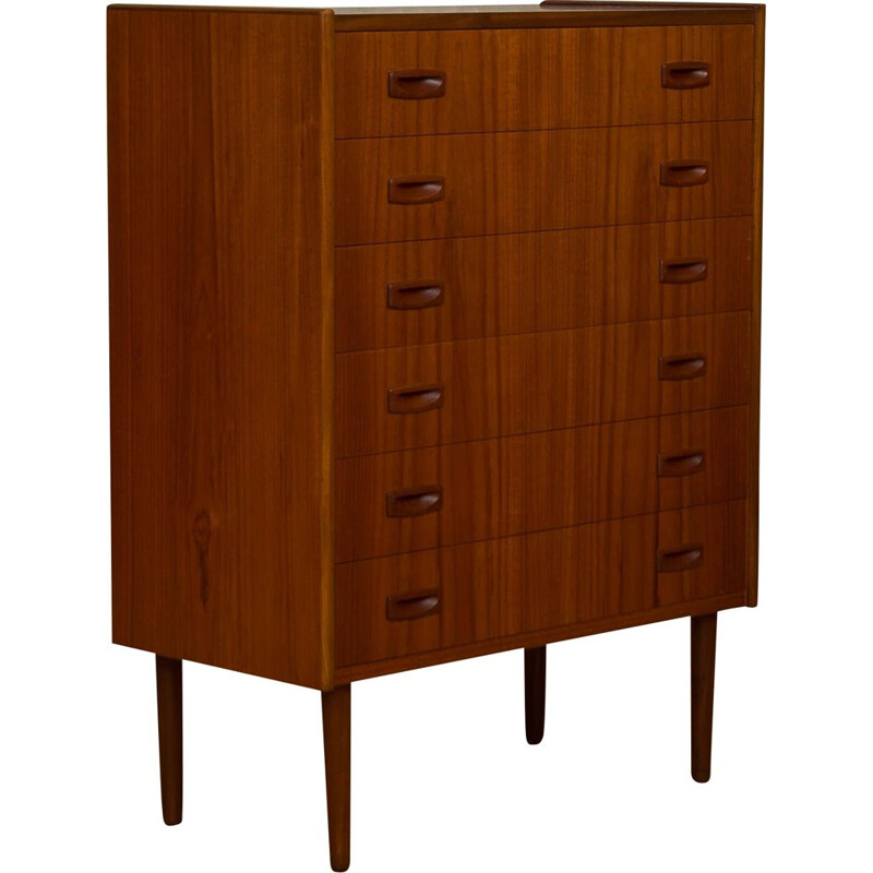 Vintage chest of drawers in teak Denmark 60s