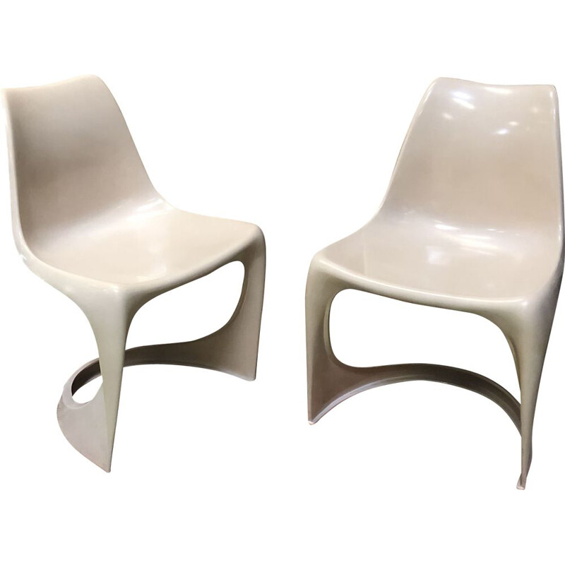 Pair of vintage chairs by Steen Ostergaard for Cado Denmark 60s