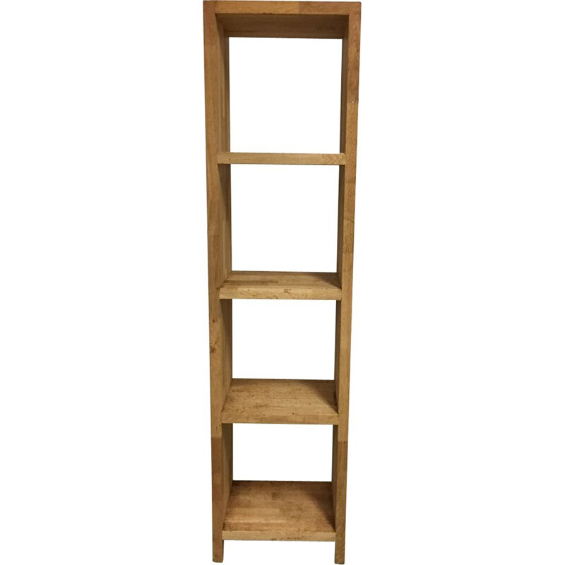 Vintage bookcase in oak France 90s