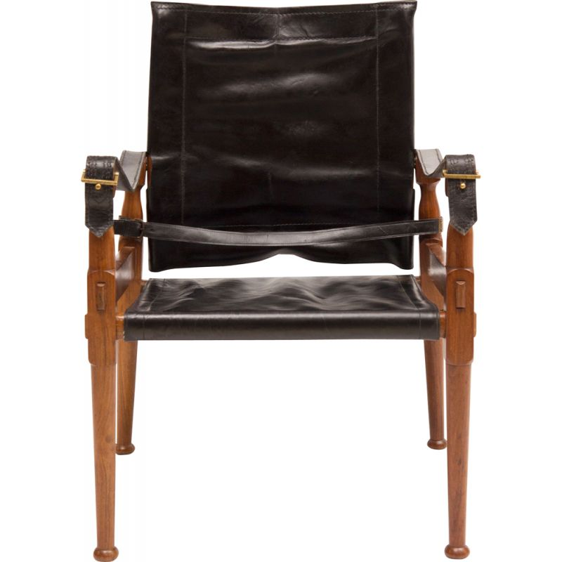 Vintage safari chair by M. Hayat & Brothers 1970s