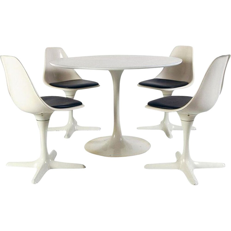 Vintage dining room set Space Age by Maurice Burke for Arkana 1969