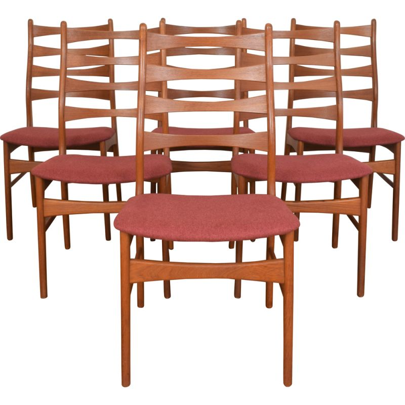 Set Of 6 Vintage Danish Teak Dining Chairs Design Market