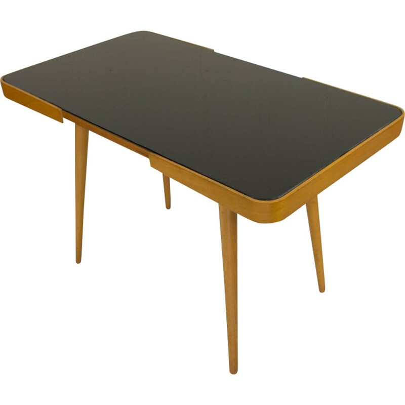Vintage black glass coffee table by Jiri Jiroutek, 1960