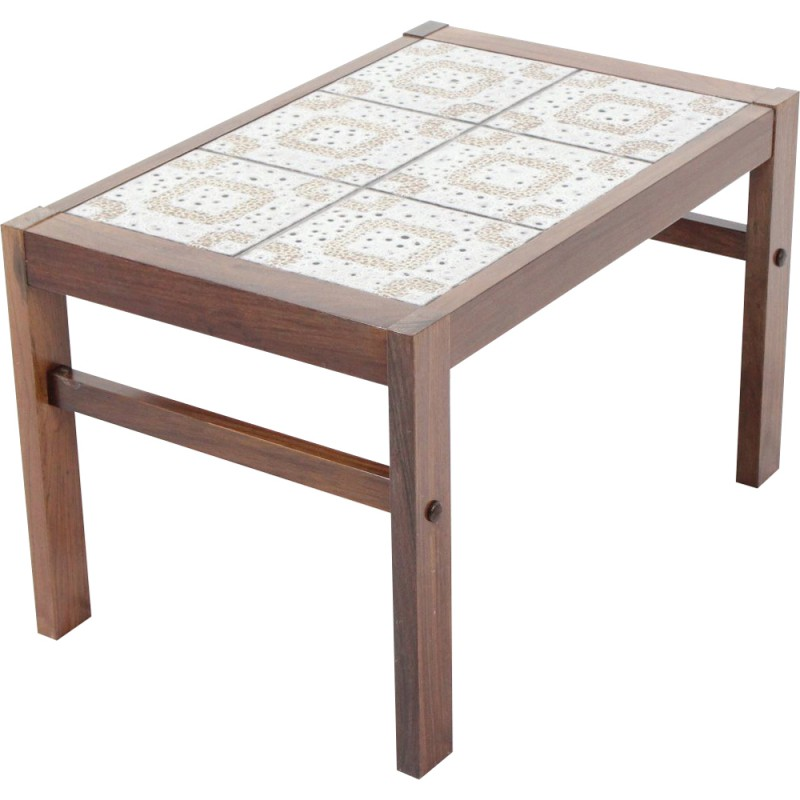 Vintage Tiled Coffee Table In Rosewood 1960s