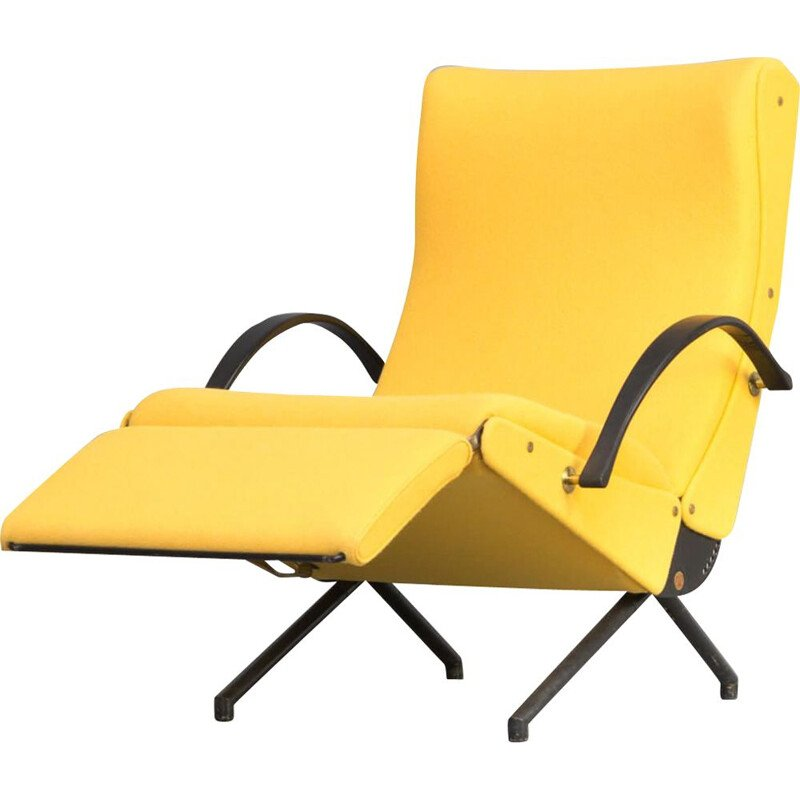 Vintage lounge chair P40 1st edition by Osvaldo Borsani for Tecno 1950s