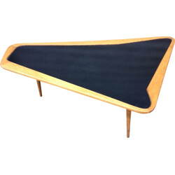 Vintage coffee table in wood and formica, Charles RAMOS - 1950s