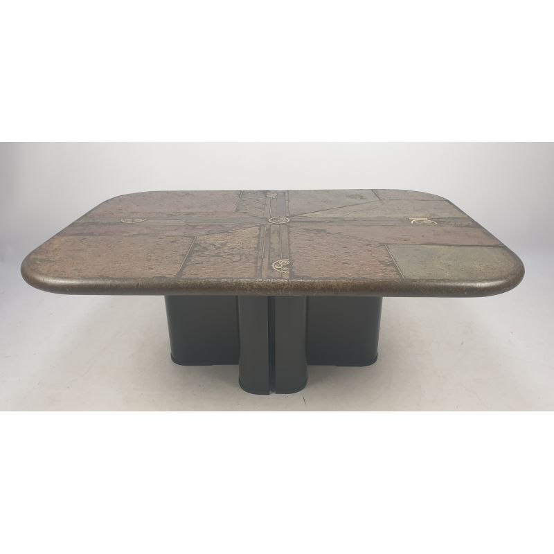 Vintage Square Coffee Table By Kingma In Concrete And Stone 1990s