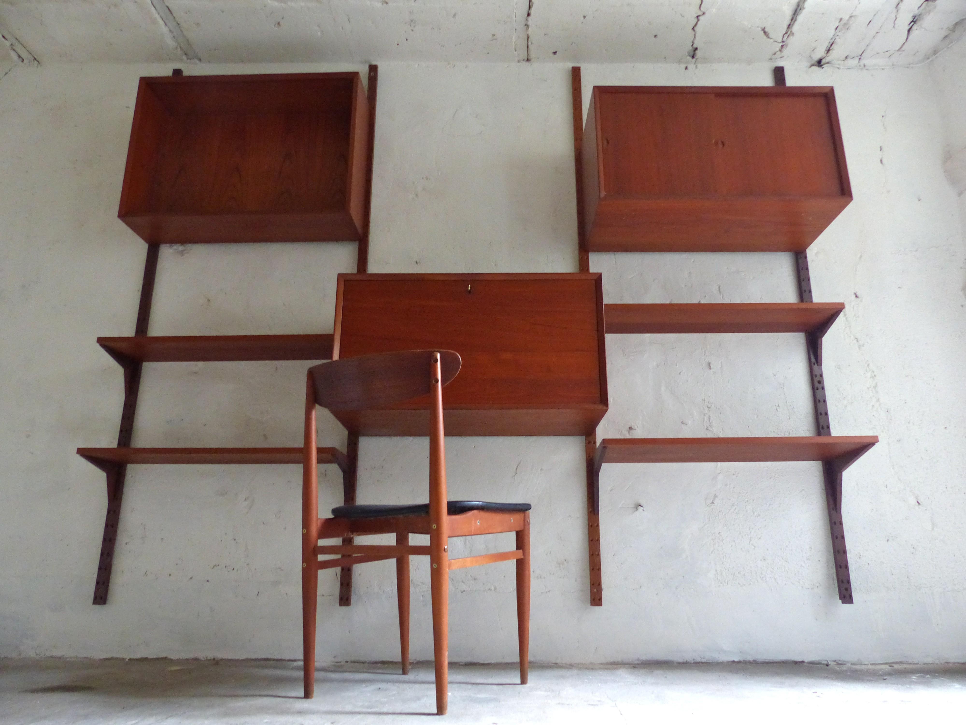 Scandinavian bookcase in teak, Poul CADOVIUS - 1960s ...