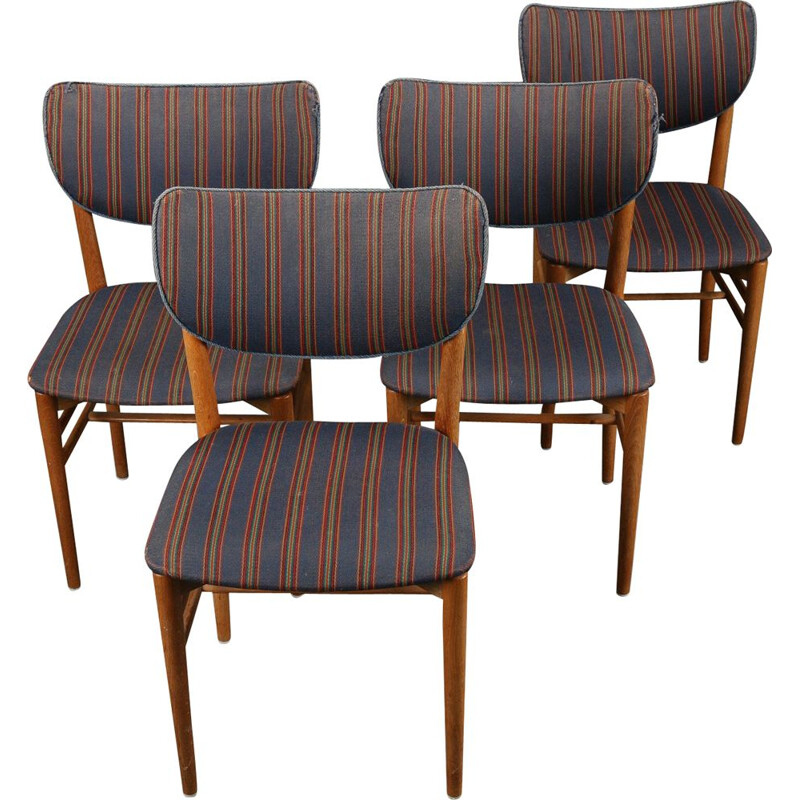 Set of 4 vintage chairs - NIELS KOPPEL