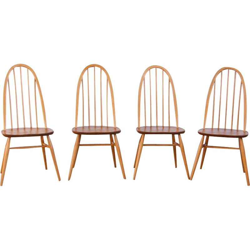 Set of 4 vintage chairs Ercol Quaker
