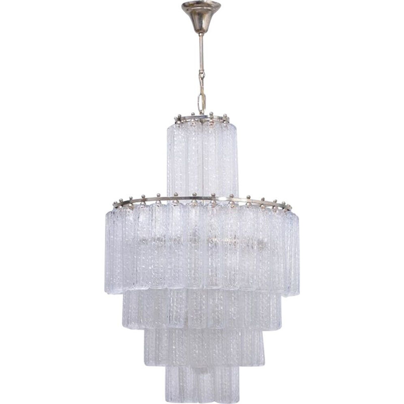 Vintage chandelier in Murano glass by Venini Italy 1960s