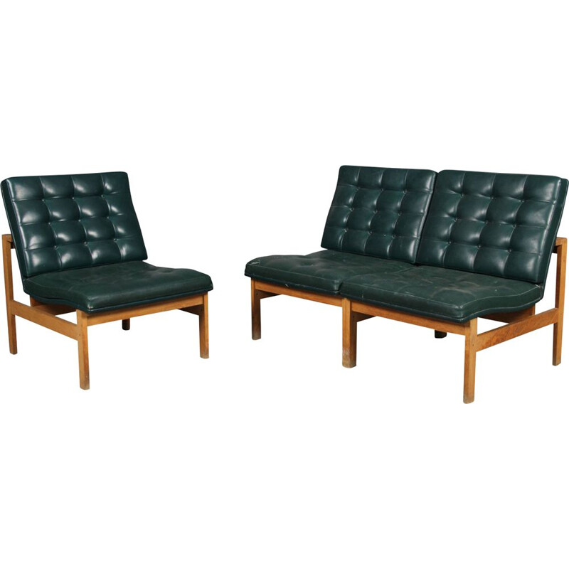 Pair of vintage armchairs Torben Lind and Ole Gjerløv-Knudsen by France & Son