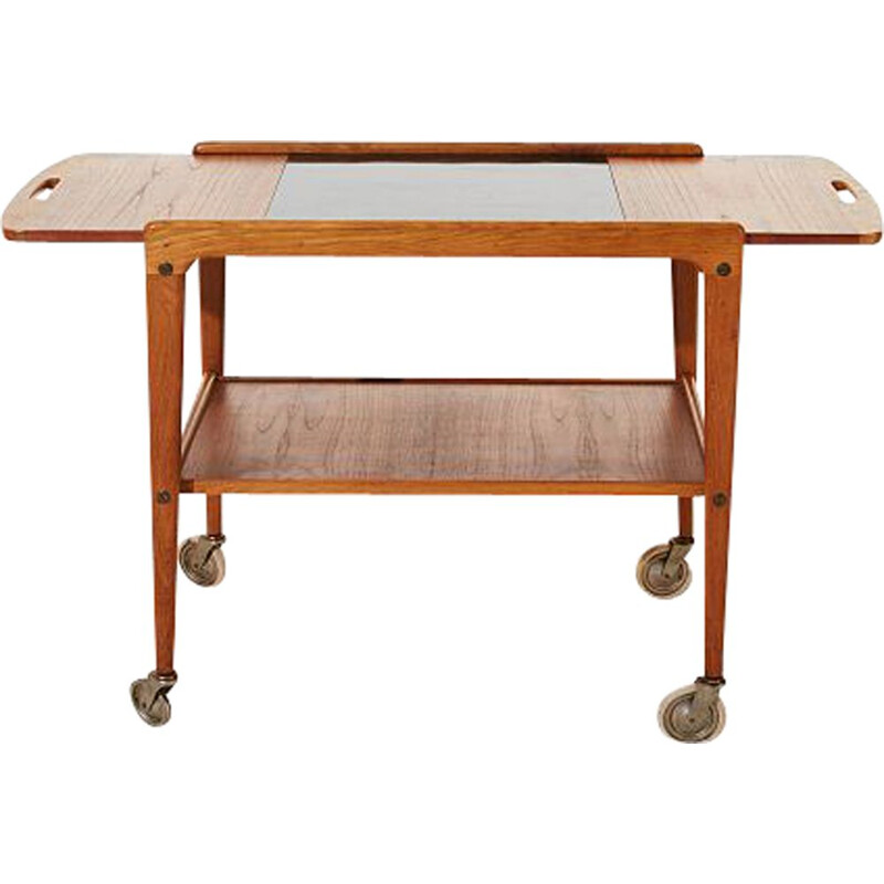 Scandinavian vintage Thea serving table by Yngve Ekstrom in teak 1950