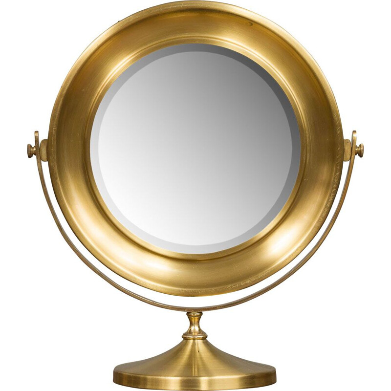 Vintage vanity mirror in brass Italy 70s