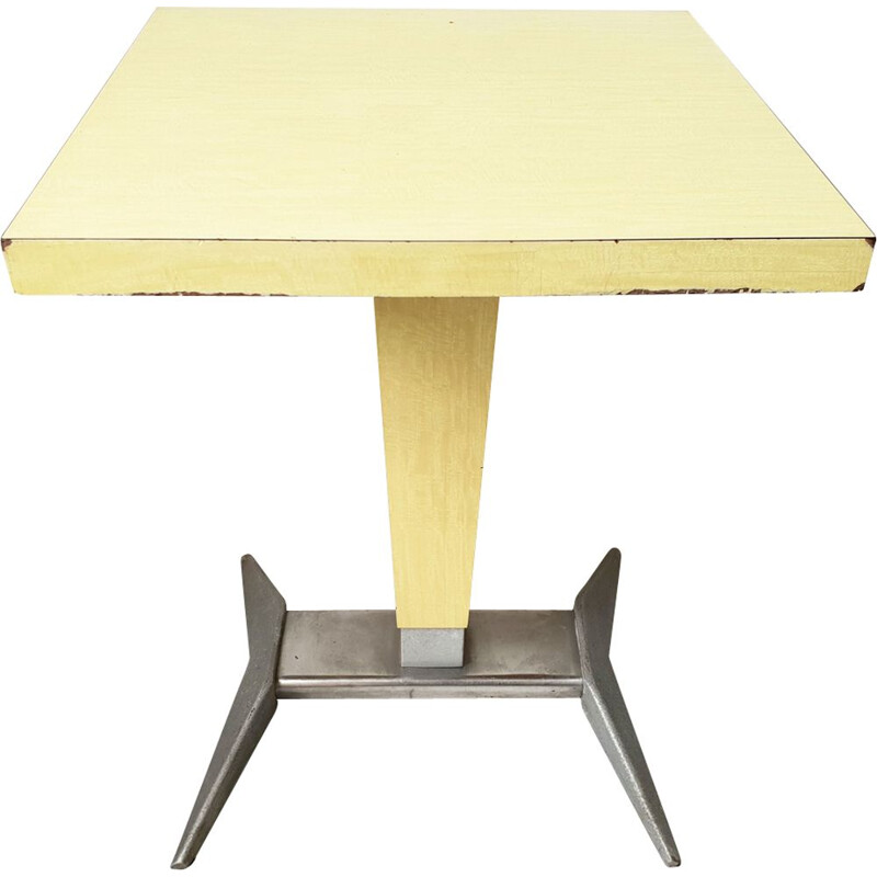 Vintage side table in formica and steel 1950