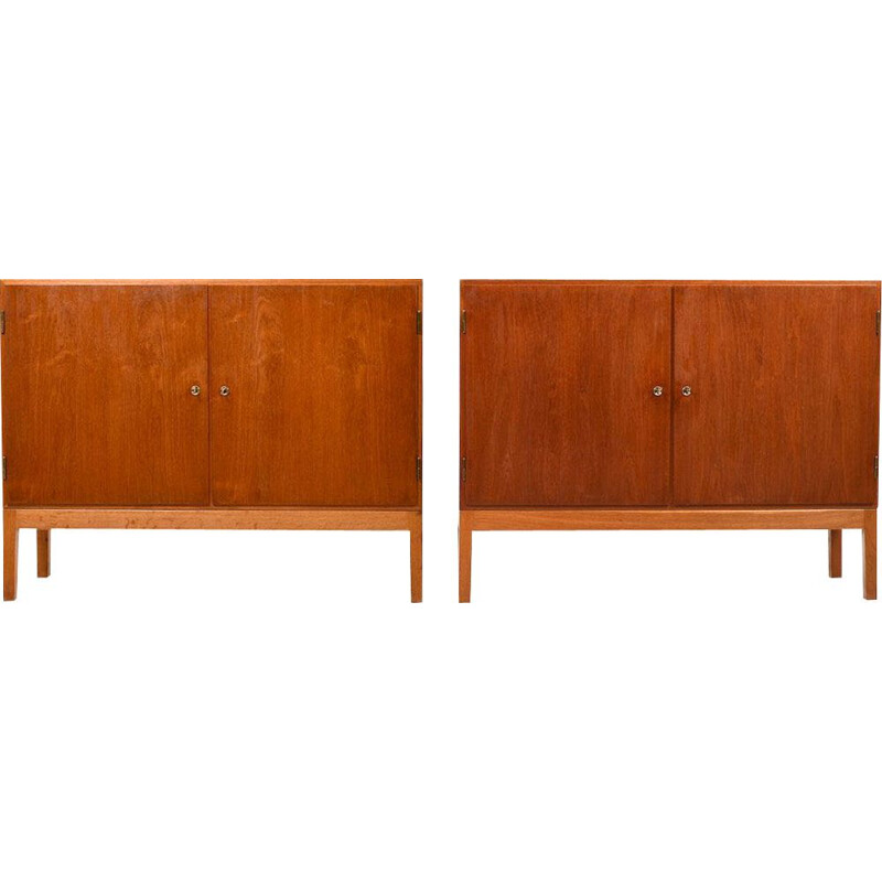 Pair of vintage danish cabinets for FDB in oak and teak 1950s