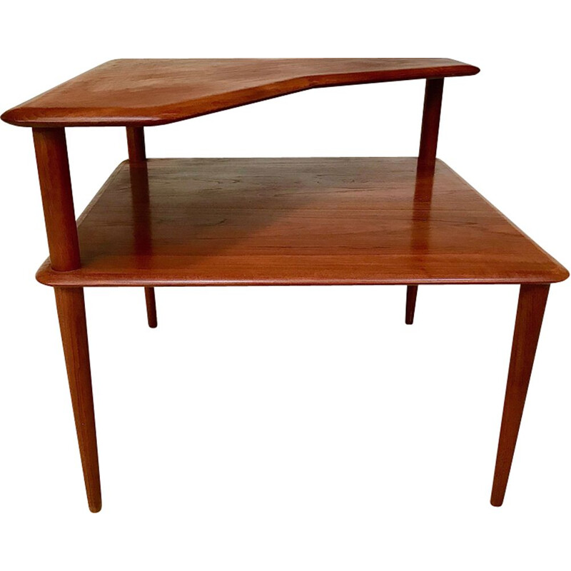 Vintage danish side table for France & Søn in teakwood 1960s