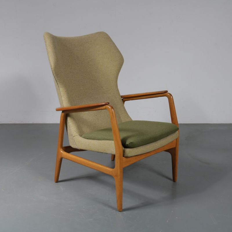 Incredible Vintage Armchair For Bovenkamp In Green Fabric Oak And Teak 1950S Caraccident5 Cool Chair Designs And Ideas Caraccident5Info