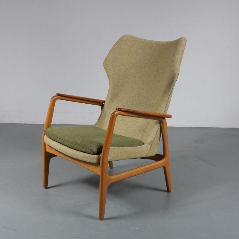 Amazing Vintage Armchair For Bovenkamp In Green Fabric Oak And Teak 1950S Caraccident5 Cool Chair Designs And Ideas Caraccident5Info