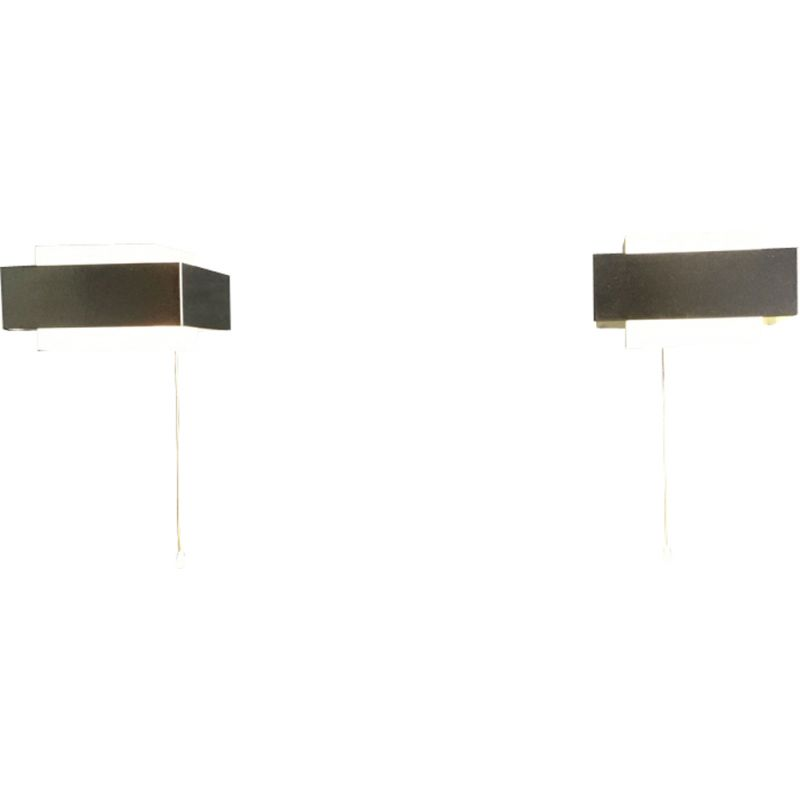 Pair of wall lamps by Louis Kalff for Philips, 1960s