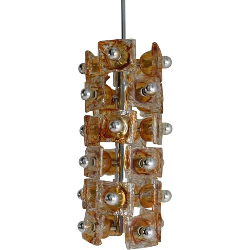 Large vintage chandelier Mazzega Italy 1970s