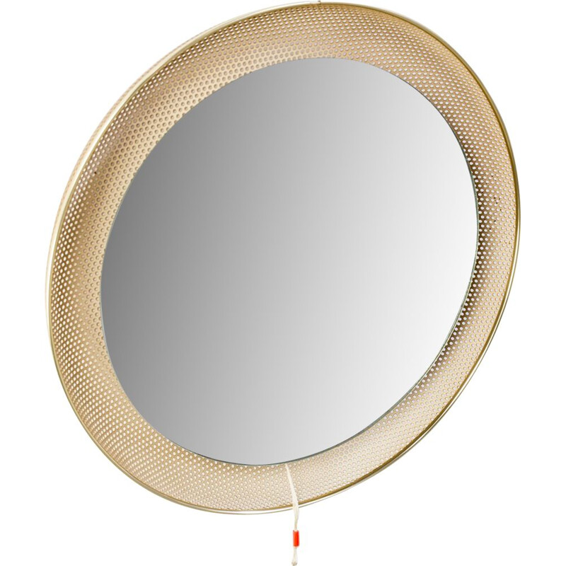 Vintage Mathieu Matégot illuminated mirror for Artimeta