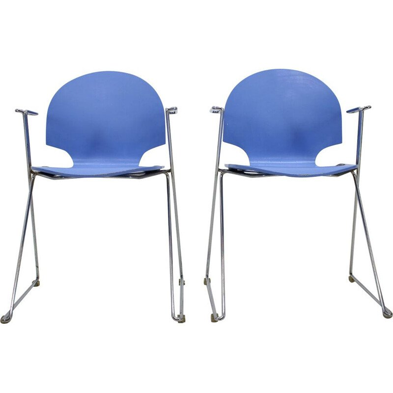 Set of 2 vintage chairs Fritz Hansen, Denmark, 1980s