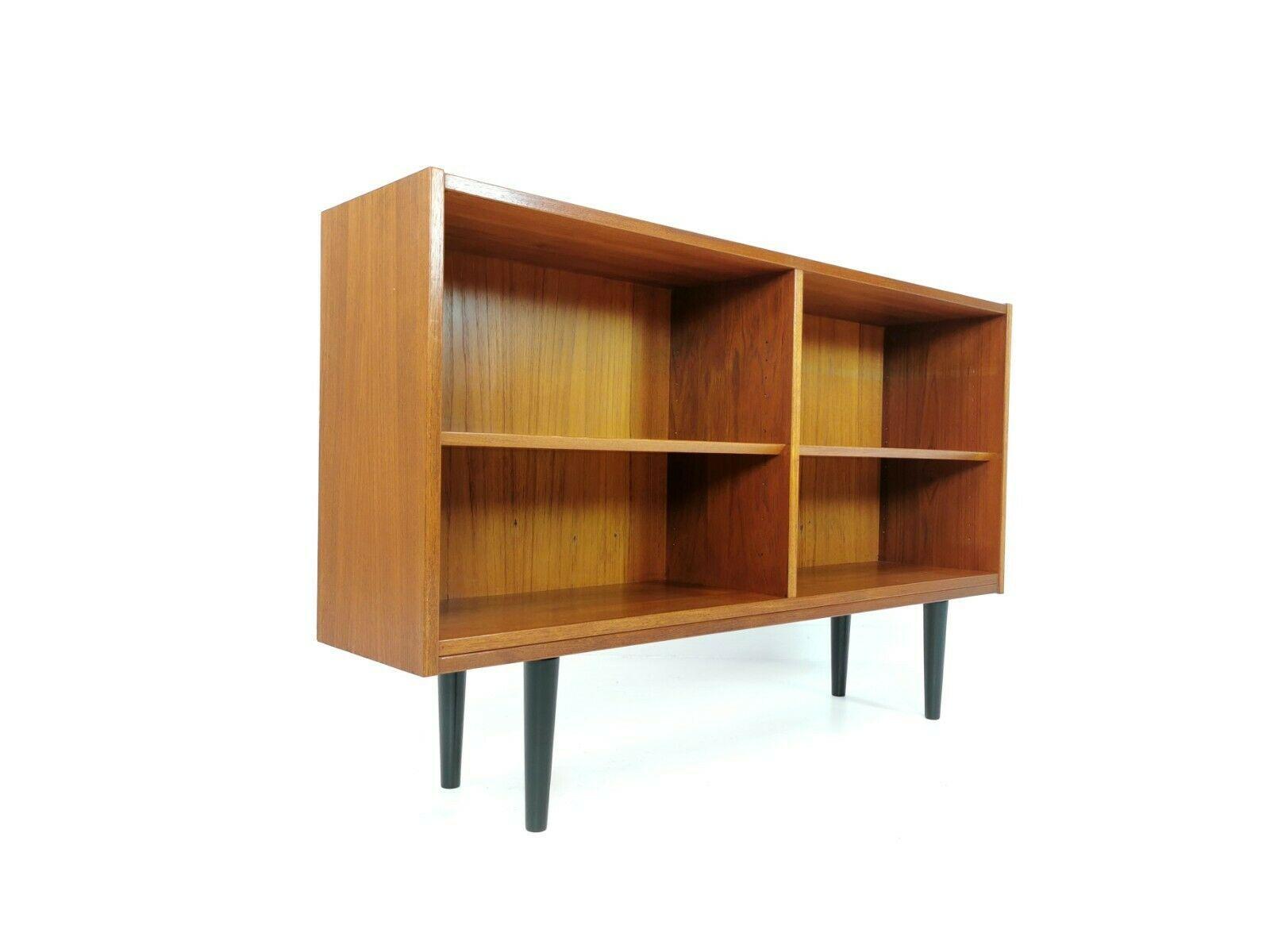Danish Mid Century Bookcase Cabinet Vintage Retro Unit 1960s 70s