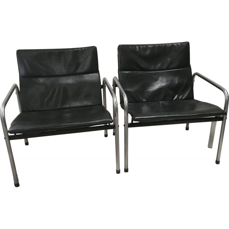 Super Set Of 2 Vintage Industrial Chrome And Skai Chairs By Just Meijer For Kembo Forskolin Free Trial Chair Design Images Forskolin Free Trialorg