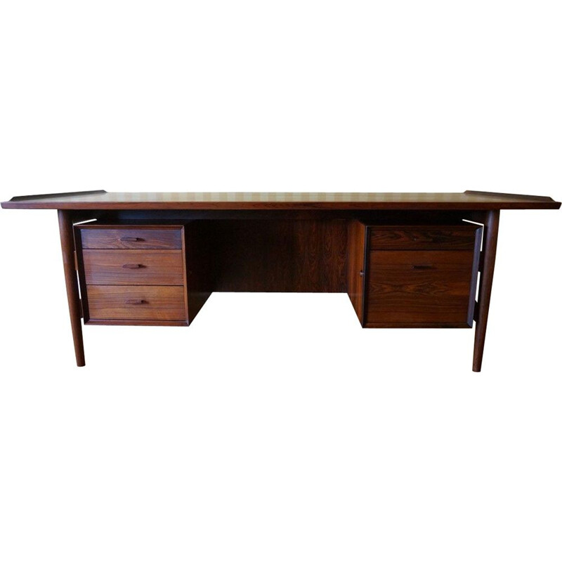 Vintage danish Executive Desk for Sibast in Rio rosewood 1960s