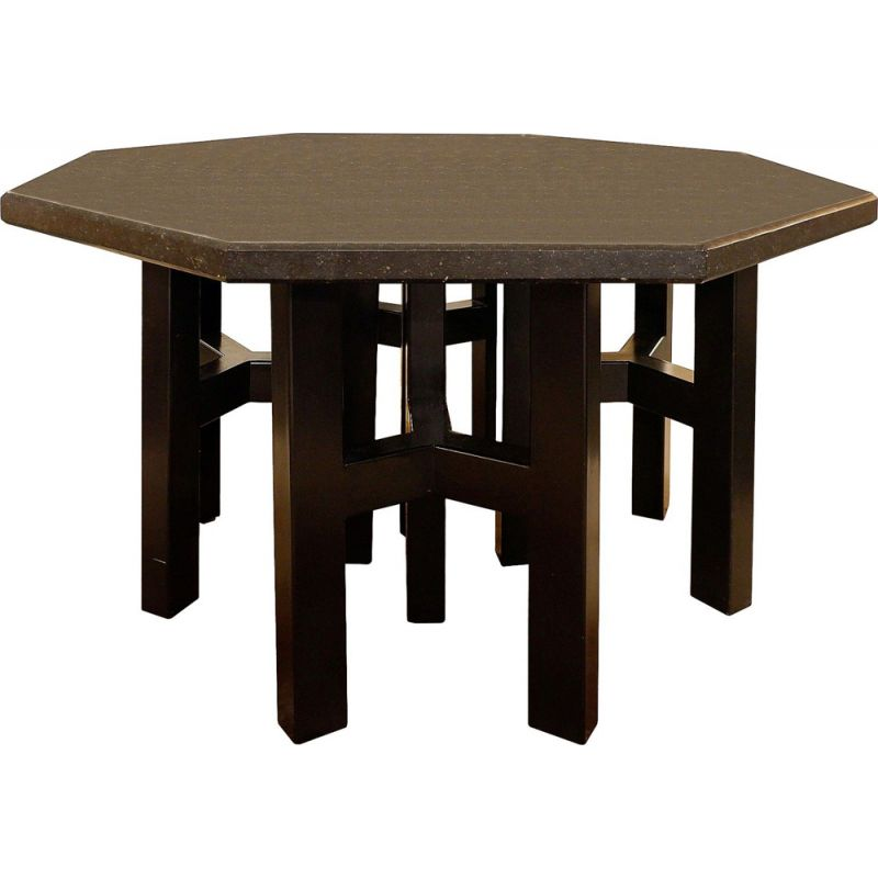 Black stone dining table by Ado Chale