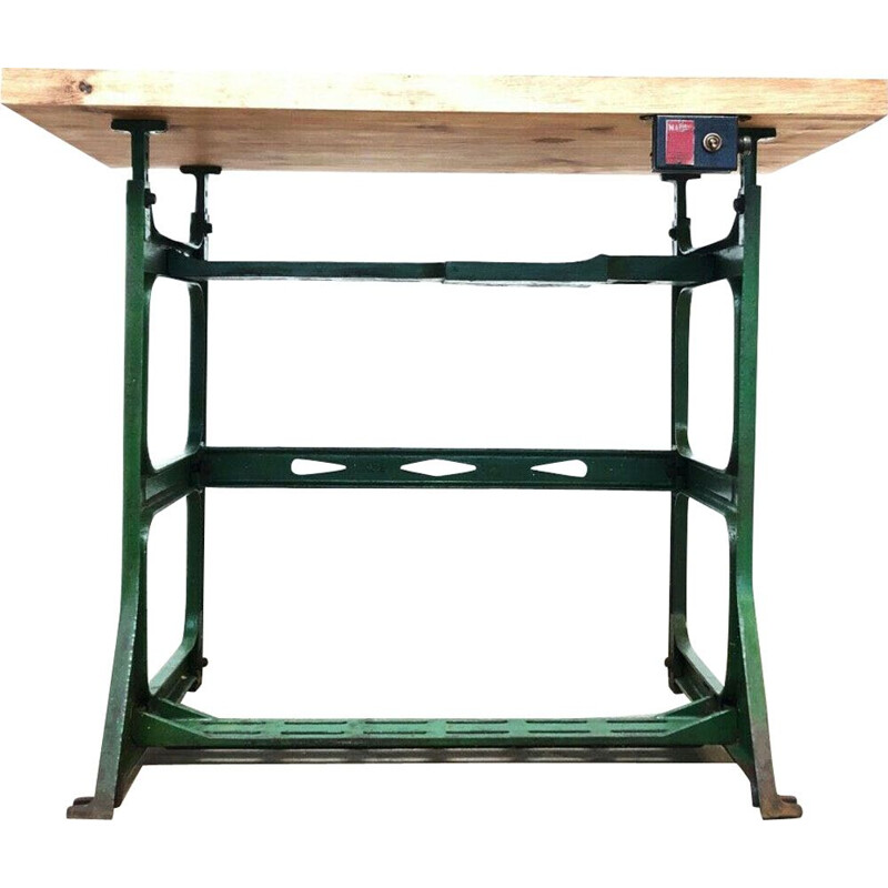 Vintage Industrial Mardrive Engineers Desk Bench